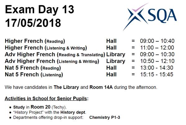 Exam Day 13